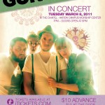 Poster for Gungor concert - March 8, 2011